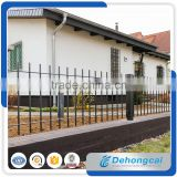 High quality Aluminum galvanized solid steel fence with post and cap