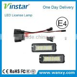 Automotive parts LED license plate light LED module plate light for V.W Golf4/Eos/Lupo/New Beetle/Passat CC/Phaeton/Polo