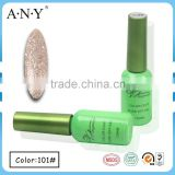 ANY Hot Selling Nail Art Beauty Caring Soak Off Glitter Light Golden UV Color Gel Nail Polsih for Nail Beauty