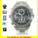 32GB HD 1280 x 960 Stainless Steel Spy Camera Watch with Hidden Camera