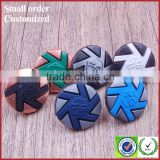 Wholesale colorful chef jacket jean alloy metal shank buttons