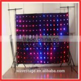 HOT WLK-1P18 Black fireproof Velvet cloth RGB 3 in 1 leds vision beautiful led video curtain