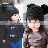 MZ3116 Newborn Toddlers Infant Baby Girls Boys Winter Crochet Knitted ball Hats