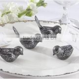 wedding party favor decoration--Antiqued Bird love bird place name card holder