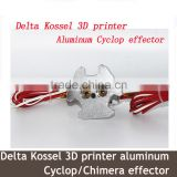 China Wholesale Delta Kossel 3D printer aluminum Cyclop effector + hot end assembly kit 1.75mm filament for kossel