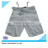 High quality mens baggy trousers pants with belt