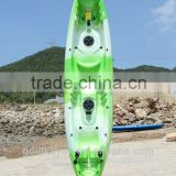 hot selling LLDPE three person sit on top fishing kayak(2adult+1children) double kayak