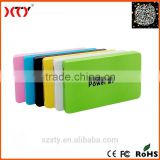 Factory price ABS super slim power bank 4000mah candy colors for christmas gift