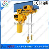 SY 0.5T low headroom electric chain hoist used for construction electric chain hoist