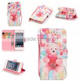 new design 3 in1 shockproof pu leather phone case for ipod touch 5 6