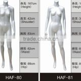 Delightful Window displays women wear glossy or matte Female White Headless Mannequins