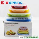 With Removable Ice Pack Refrigerator Crisper Colorful Salad Snack Food Container For Kids Lunch Box