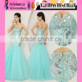 Cheap Plus Size Women Clothing Mermaid Evening Dress Wholesale Graceful Beaded Mermaid Evening Dress