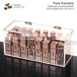 anti Dust transparent acrylic dressing box finishing nail polish lipstick clamshell lipstick storage box
