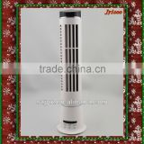 JY 502D super mute leafless ABS plastic brushless timiing function USB battery mini table tower fan