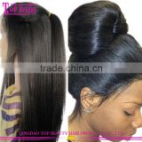 Indian Remy Human Hair Wigs Light Italian Yaki Straight Lace Front Wigs with Baby Hair 130% Density Yaki Wigs