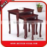 Living Room Nesting Wood End Table, Wood Side Table, Wood Tea Table