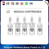 2016 Hot sale 1/3/7/9/12/36/ Nano silicon needles thread head derma pen micro needle cartridge for derma pen