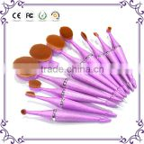 New design Tooth Brush Style custom logo 10PCS Makeup brush set/Oval BB Cream Foundation makeup Brushes