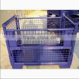 stackable wire mesh crate container/steel bin