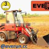 Neue Model Everun ER08 1.0 Tonne agricultural Farm/Land Machine Mini Radlader/Hoflader/Wheel Loader mit CE/Euro 3