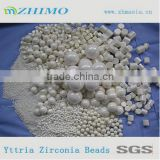 Heat resistant zirconia beads for dispersion dye milling