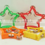 Colorful Hand bell for school Hand Bell Toy Novel Design Tambourine