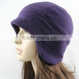Wholesale custom cheap fashion unisex fleece outdoor riding hiking cap/hat,ear muff polar cap/hat for men and women