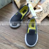 Grey Color Little Kids Casual Shoes Export Surplus Boys Canvas Slip-on Shoe Excess Stock