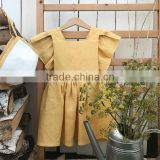 Back Opening Dresses For Girls Cotton Linen Party Supply Baby Dress
