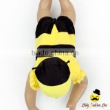 Cute Remake Props Bee Cosplay Flutter Sleeve Kids One Piece Beach Clothes With Cap 2pcs Young Girl Swimwear