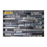 Dark Gray Crystal Strip Mosaic Tile , Glass Mirror Mosaic Tile Backsplash