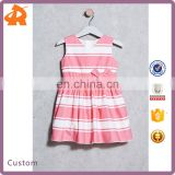 China Supplier Wholesale Fashion Kids V-Neck Sleeveless Baby Dress For Children Girl