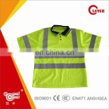Quality Safety Yellow Polo Net Shirt for Worker KF-301-A4