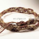 braided rope belt cotton rope belt handmade cotton thread belts