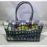 2014 new design wax print fabric party bag handbag