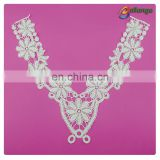 floral pattern lace neck trim embroidery collar