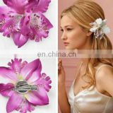 Pretty floral hair ornament pin,wholesale little Thailand flower hairpins for women