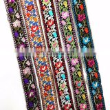 Width 2cm Embroidery Ethnic Jacquard Webbing Woven Tape Vintage Lace Ribbon Trim Collar Tribal Boho DIY Gift Accessories