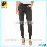 Fashionbale washed lady denim pants for fast delivery girl's latest design skinny jeans for women