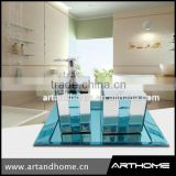 Clear Sea shell blue bathroom accessory set China, Bathroom set                                                                         Quality Choice