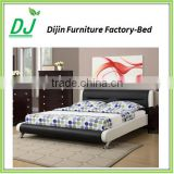 Hot sale italian design bed frame leather double bed for sale
