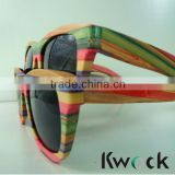 OEM colored wooden sunglasses with polarized lens,fashionable sunglasses,wooden frame sunglasses