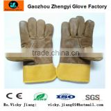Brown furniture leather split palm winter glove
