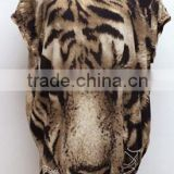 Instyles New Women's T-shirt Batwing-sleeve Tiger Animal Print T-shirt Spring-Summer Blouse boutique clothing Clothing