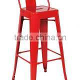 MCH-1515-2 Red Metal Stool High Bar Chair