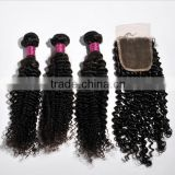 Cheap Human Hair Virgin Hair Bundles With Swiss Silk Base Lace Front Closure Weaves                                                                         Quality Choice