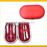 Lovely design red 6pcs manicure kit
