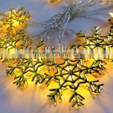 LED string light with iron snowflaker accessories LED decorative light LED Chrsitmas lights
