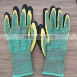 latex palm coated glove/latex crinkle coated gloves/EN388 gloves                                                                         Quality Choice